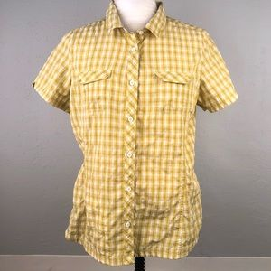 Eddie Bauer Large Vented Shirt Button Up Check